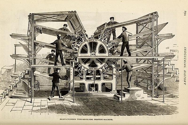 Eight Cylinder Type Revolving Printing Machine