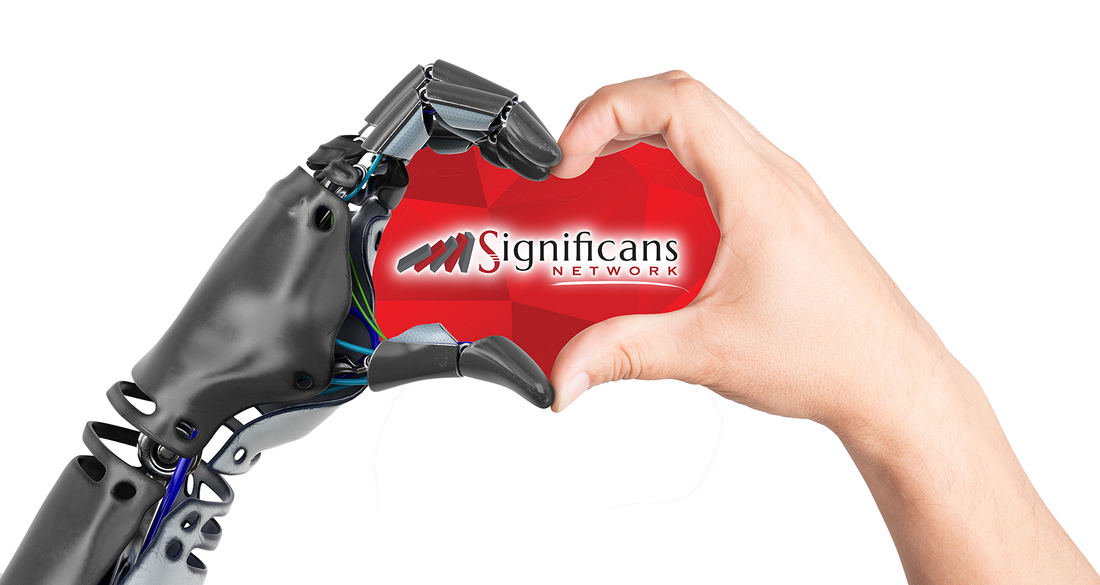 Significans Heart Shaped By Human And Robot